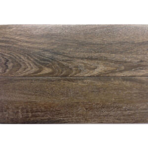 Stained Oak Wood Look Ceramic Tile, 6in x 24in size