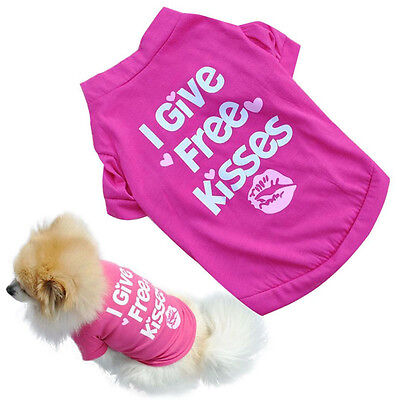 Small Pet Dog Cotton Shirt Clothes Cat Puppy Spring Autumn Clothes Vest T Shirt