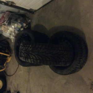 225/45R17 5 bolt winter tires and rims