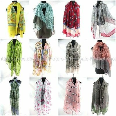 $3 each, wholesale 50 sarongs shawl scarves vintage style boho floral beach wrap