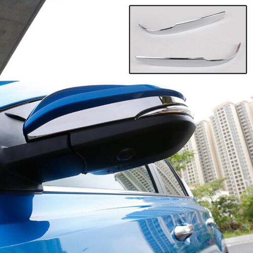 Chrome Door Side Mirror Covers Molding Trims For 2013-2018 Toyota RAV4 SUV