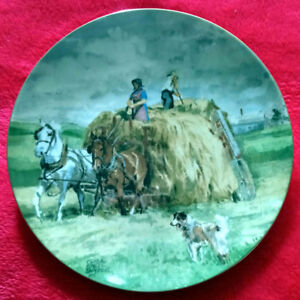"""Atop Hay Wagon"" Collector Plate"