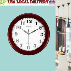 2020 Wine Red Clock Classic 12 Atomic Radio Controlled Wall Clock BGW612-YG USA