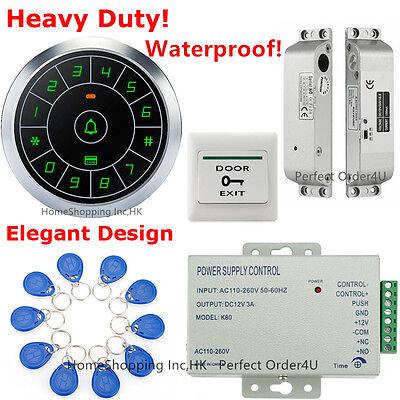Waterproof RFID Card+Password Door Access Control System+Electric Drop Bolt Lock