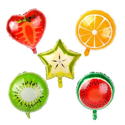 Birthday Decortion (5PCS Foil Helium Fruit Shape Air Balloon Birthday Supply Party Wedding)