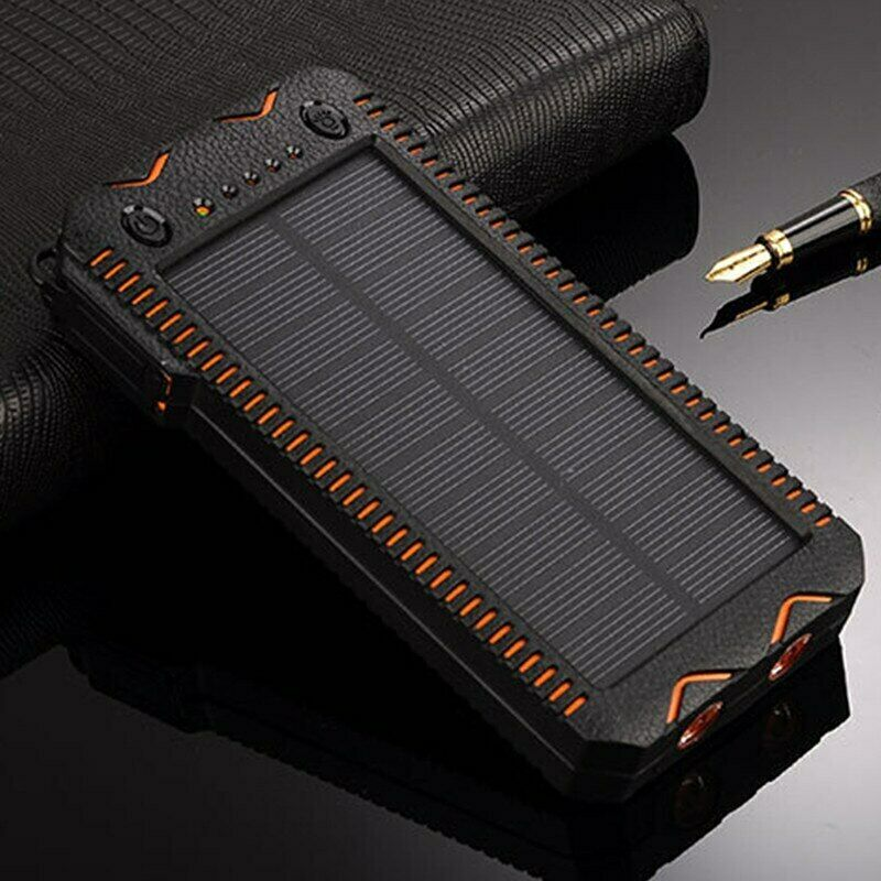 Solar Power Bank 45000mAh High-Capacity with Cigarette Lighter Battery Charger Cell Phone Accessories