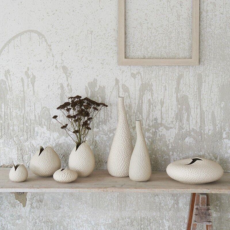 Vasi da tavolo per fiori linea ASA colore beige h.46/33,5/12,5cm design salotto
