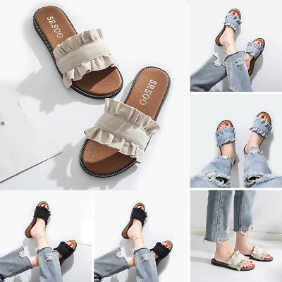 a5b430e029f222 Korean Style Women Flats Slip Cute Ladies Comfortable Flip Flop Sandals  Shoes