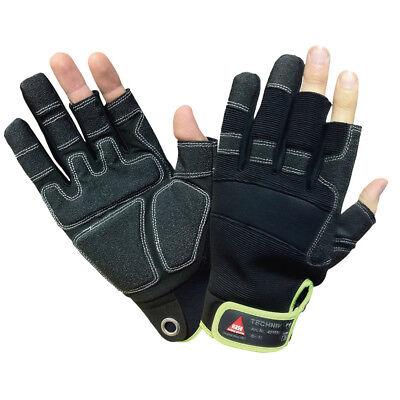 2, 3 Finger Handschuhe Technik Mechaniker Handschuh Arbeitshandschuhe Größe 8 ()