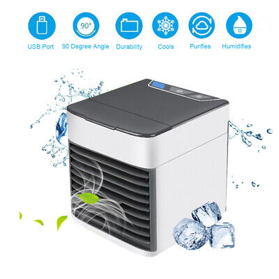 3 in 1 Mini Air Portable Conditioner Humidifier Purifier Cooler Fan USB Cooling