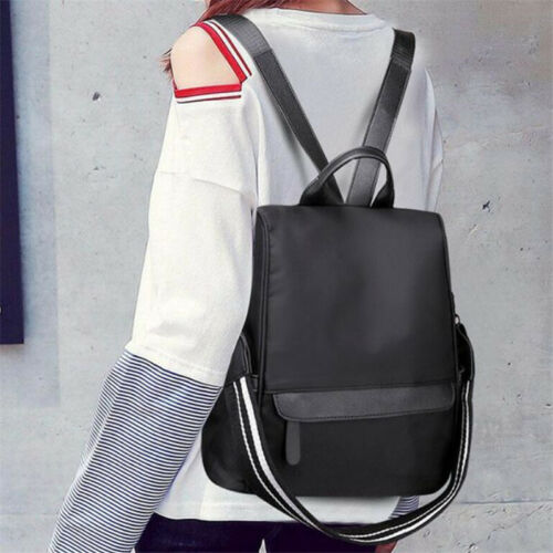 Womens Ladies Nylon Backpack Waterproof Anti-Theft Rucksack