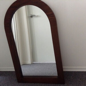 Lovely Mirror with Solid Oak Frame.  Great Christmas Gift.