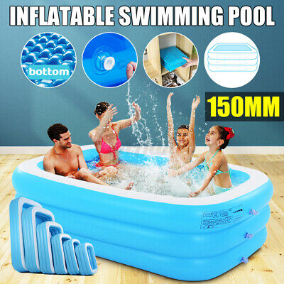 150cm Round Inflatable Swimming Pool Backyard Water Play Funny Garden &