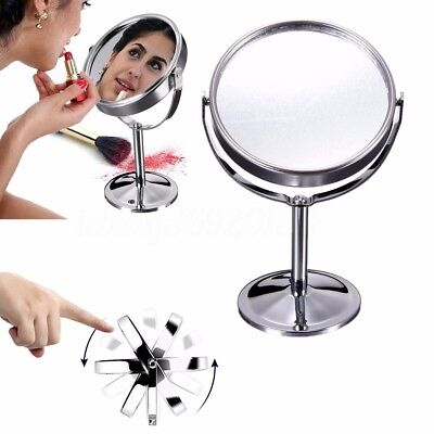 Portable Makeup Cosmetic Compact Mirror Double Sided Normal & Magnifying Stand
