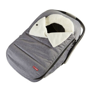 Skip Hop Stroll and Go Car Seat Cover, Heather Grey