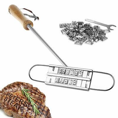 BBQ Grillbrandeisen mit wechselbaren Buchstaben / Fleisch Steak Stempel NEUWARE
