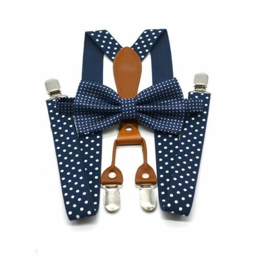 Polka Dot Bow Tie Suspenders Set Men Women Tuxedo Wedding Adult Classic Bowtie