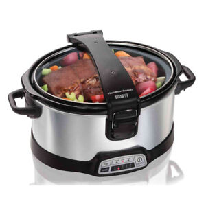 Programmable Stay or Go® 6 Quart Slow Cooker