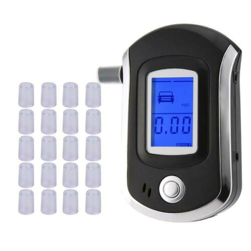Police LCD Digital Breath Alcohol Tester Personal Breathalyz