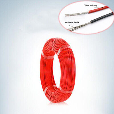 12~28AWG Insulation Electrical Wire Flexible Cable PTFE Red HIGH TEMP