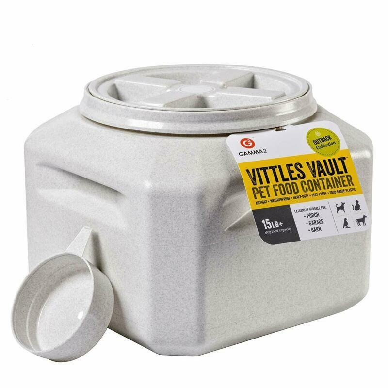 Dog Food Storage Vault Container Pet Cat Airtight Bin Fresh