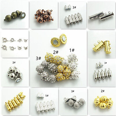 Wholesale 10pcs Silver/ Gold/Silver k Magnetic Clasps Hooks For Jewelry Making  - Clasps For Jewelry Making