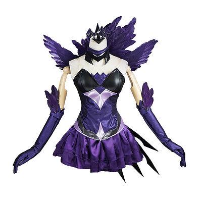 Halloween Dark (League of Legends Lux Elementalist Dark Lux Dress Halloween Cosplay Costume)