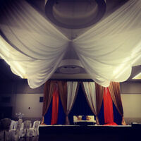 Ceiling Swags - $160.00 Rental or Set up included contact!