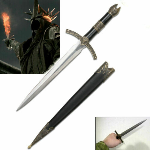New LOTR Lord of the Rings HOBBIT Witchking Mini Dagger Sword Blade w. Scabbard