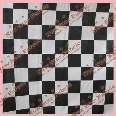 Black   White Checker 2  Poly Cotton Fabric 58 Inches Width Sold By The Yard