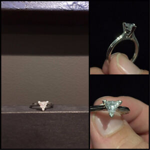 *Edited with size* 0.50ct Solitaire Trillion Cut Diamond Ring