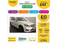 WHITE Mercedes-Benz C220 AMG LINE Sport Plus EXECUTIVE AUTO FROM £62 PER WEEK!