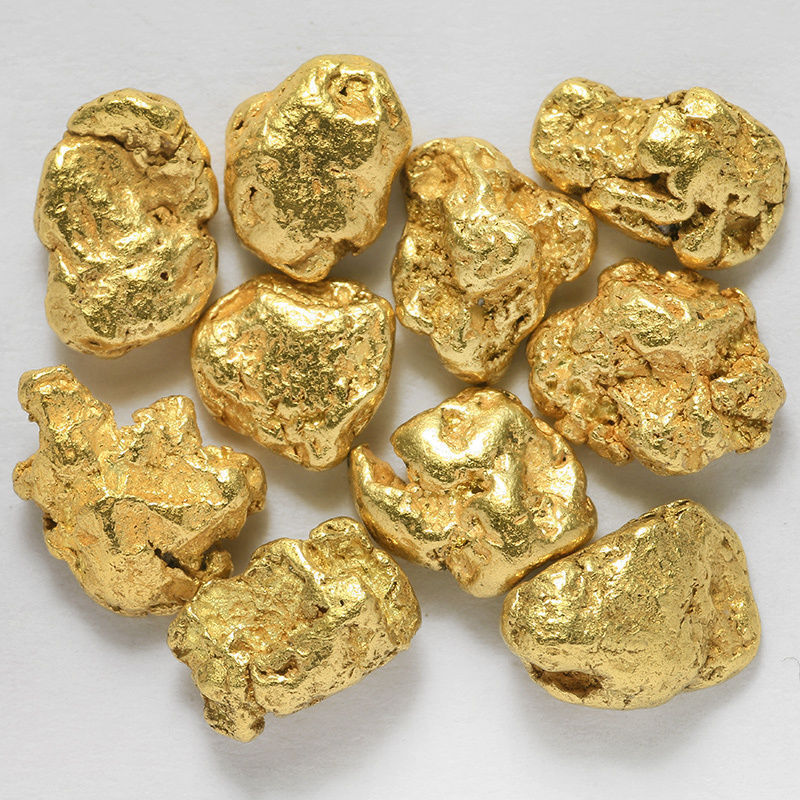 10 pcs Alaska Natural Placer Gold - Alaskan Gold 1-2mm - TVs Gold Rush (#1-1)