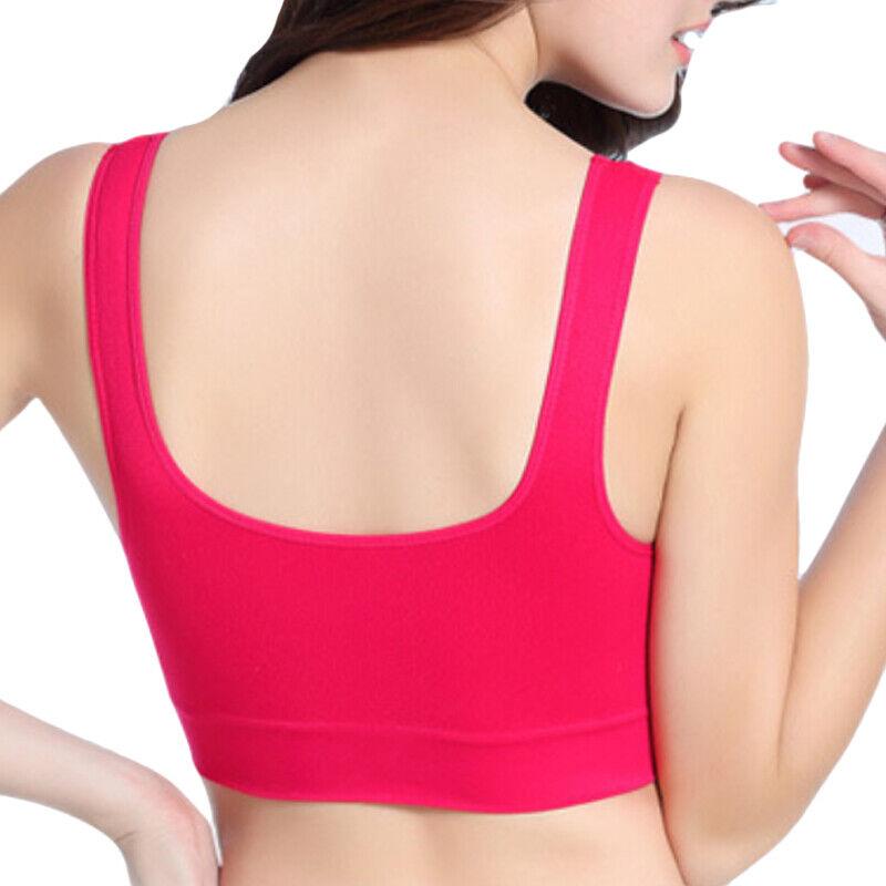 Women Ladies Padded Push Up Bra Sports Shapewear Yoga Wireless Gym Joggers Vest Clothing & Accessories