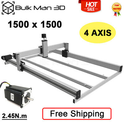 15001500 Lead Cnc Router Machine Kit 4 Axis Cnc Milling Engraver Kit Silver