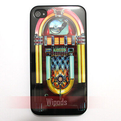 Design Cd Case Cover (Retro Music CD Jukebox Design Hard Case Cover Skin for Apple iphone 4 4S 4G 4th )