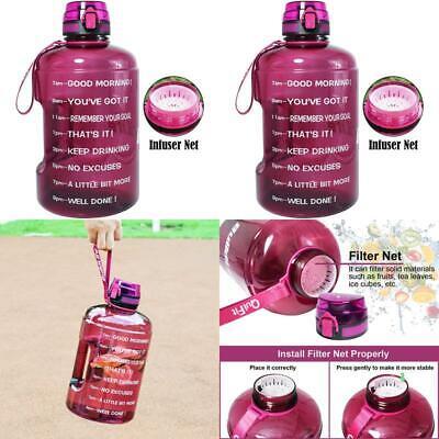 Large Motivational Water Bottle, Time Marker Leak Proof Gall