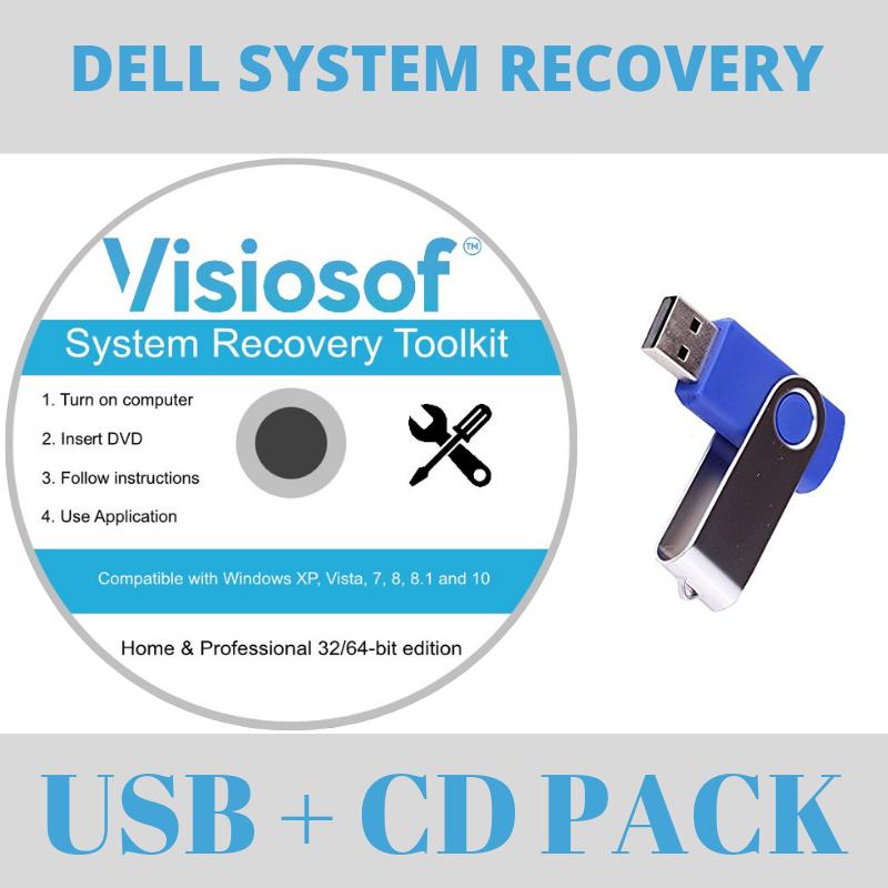 DELL Recovery Repair Disk USB Software Boot Restore CD Windows 10 8 7 Vista XP