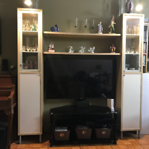 IKEA Magiker Wall Cabinets and Shelves & Glass TV Stand