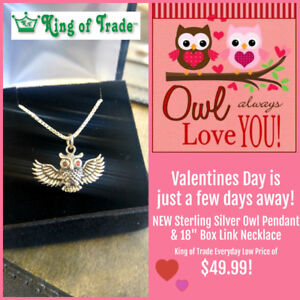 NEW! Sterling Silver Necklace & Pendant - King of Trade