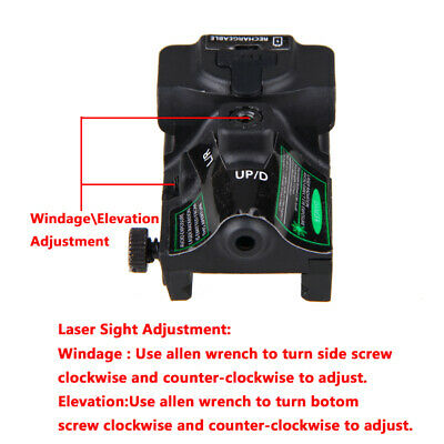 Rechargeable Subcompact Pistol Green Laser Sight Scope Fit Most Handguns