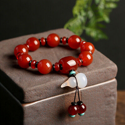 Red Agate Bracelet Gorgeous Red Agate Macrame Bracelet Birthday Gift 8mm Red Agate Beads.
