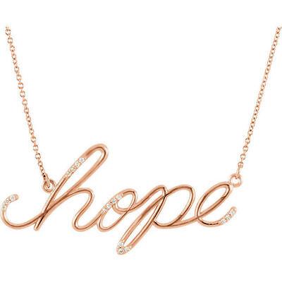 "Hope Diamond Necklace - Diamond Hope 16.8"" Necklace In 14K Rose Gold"
