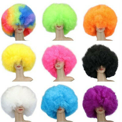 Halloween Colors Clothes ( Afro Jumbo Wig Costume Halloween Party Unisex dress up party Wig 12 Colors)
