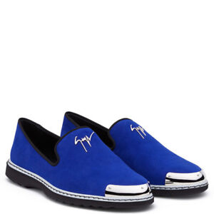 100% Authentic Giusseppe Zanotti Men's Leather Loafers Shoes, 44