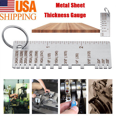 Wire Gauge Thickness Measuring Tool Wire Stainless Steel Gage Measurement Plate