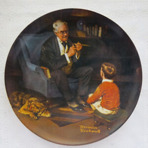 """Norman Rockwell collector plate...""""The Tycoon"""""""