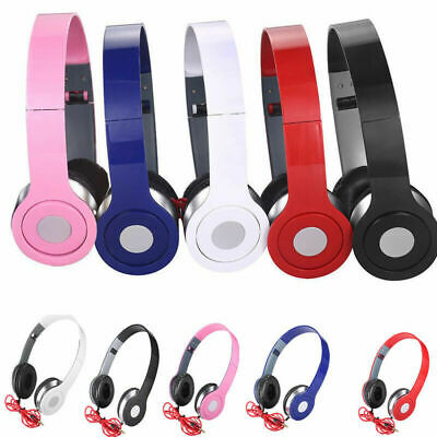 UK Over-Ear DJ Headphones Wired Game Earphones For Teens Kids Childs New Arrival