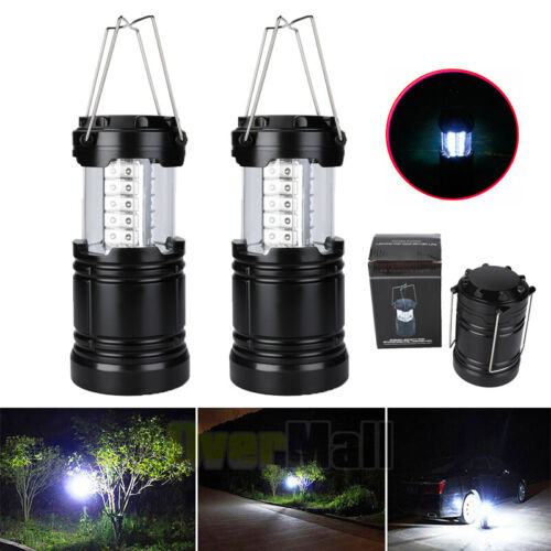 2 pack portable outdoor collapsible 30 led