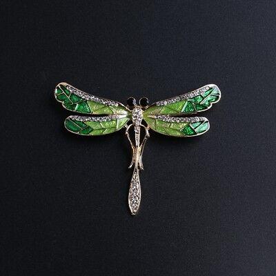 Enamel Animal Charm - Rhinestone Enamel Animal Dragonfly Brooch Charm Animal Brooch Pin Women Jewelry